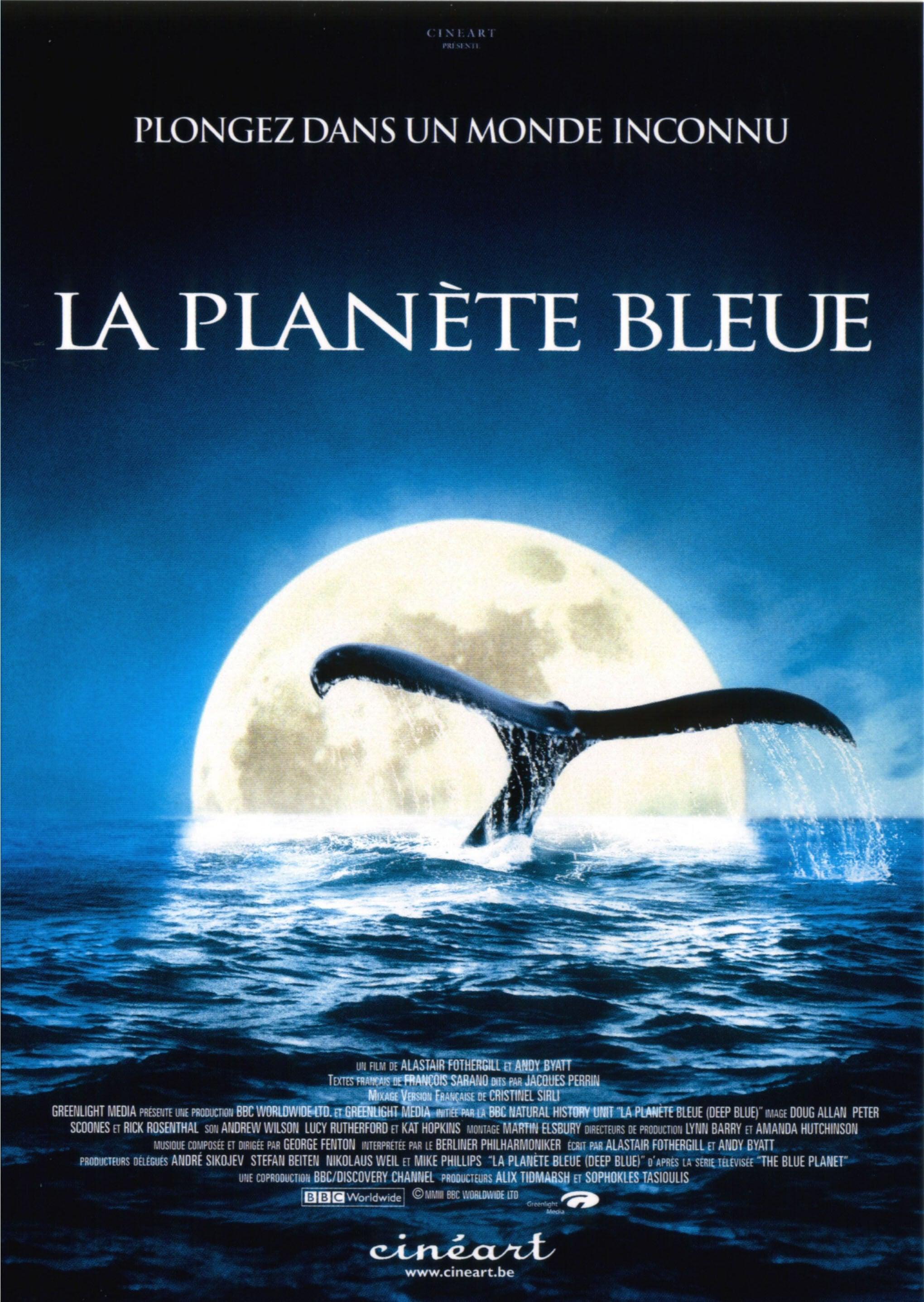 affiche du film La planète bleue
