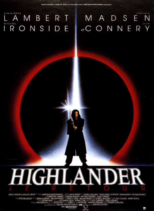 affiche du film Highlander, le retour