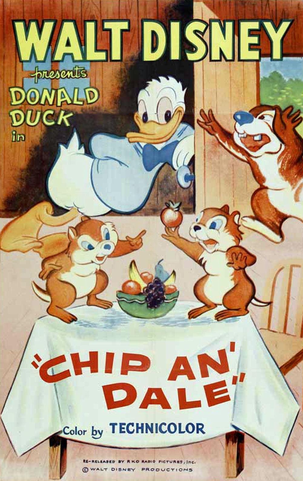 affiche du film Donald Chez les Écureuils