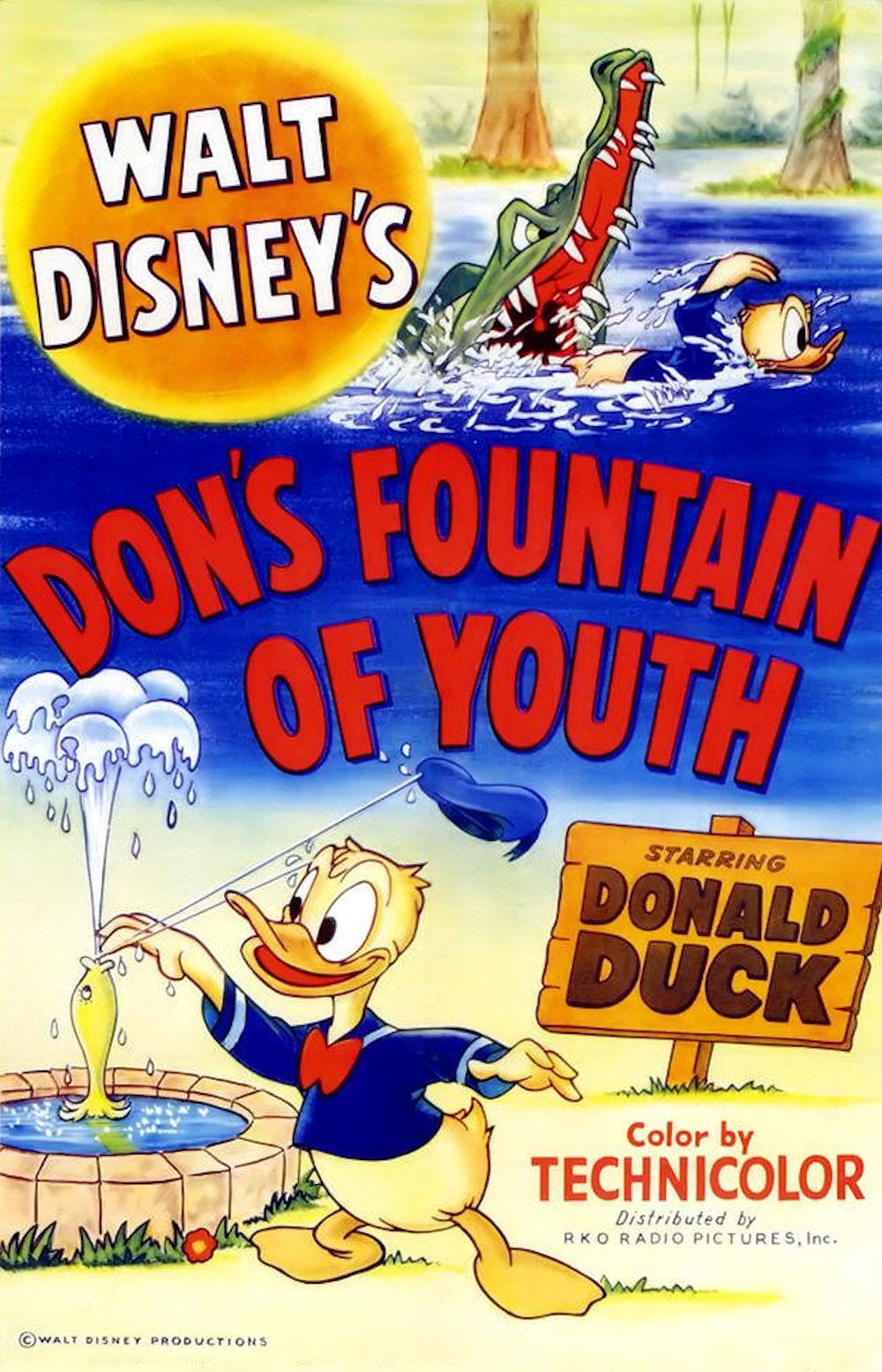 affiche du film La fontaine de jouvence de Donald