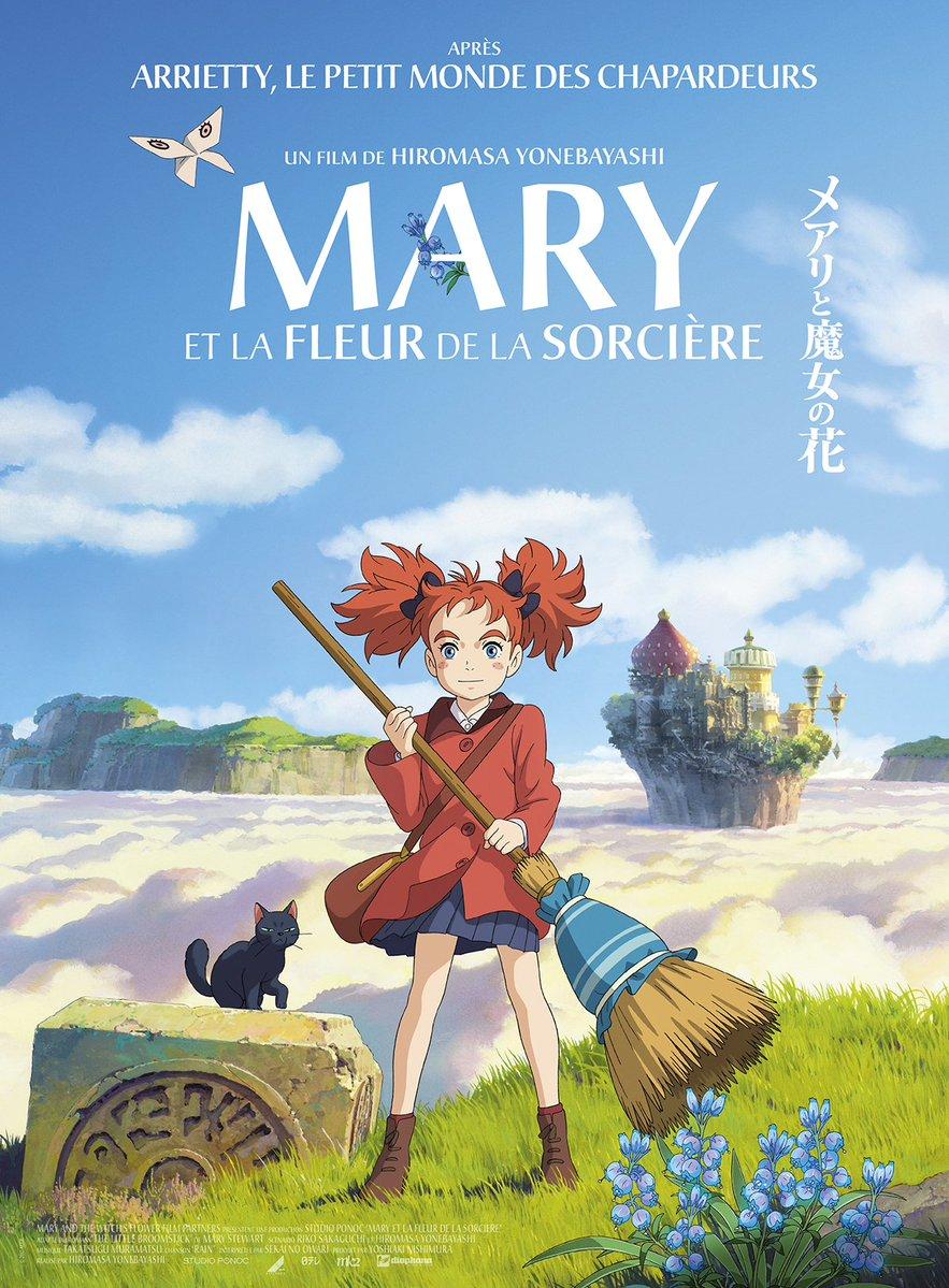affiche du film Mary et la Fleur de la Sorcière