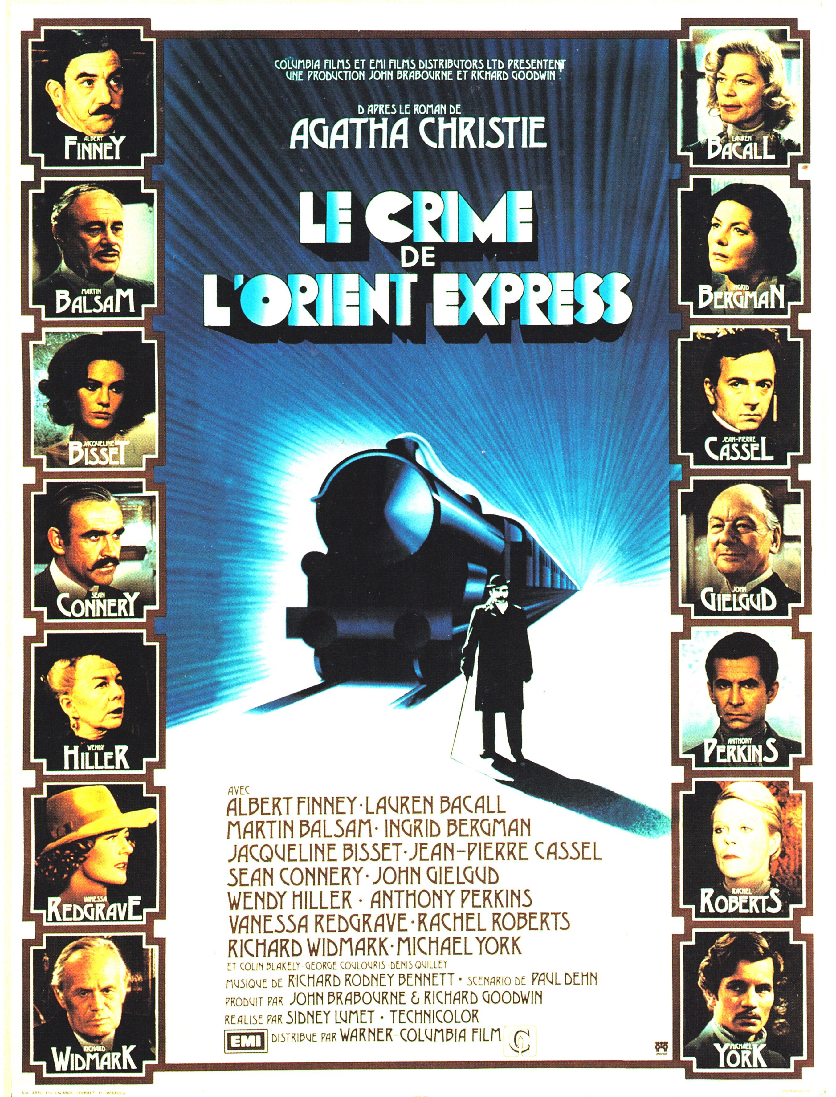 affiche du film Le crime de l'Orient-Express (1974)