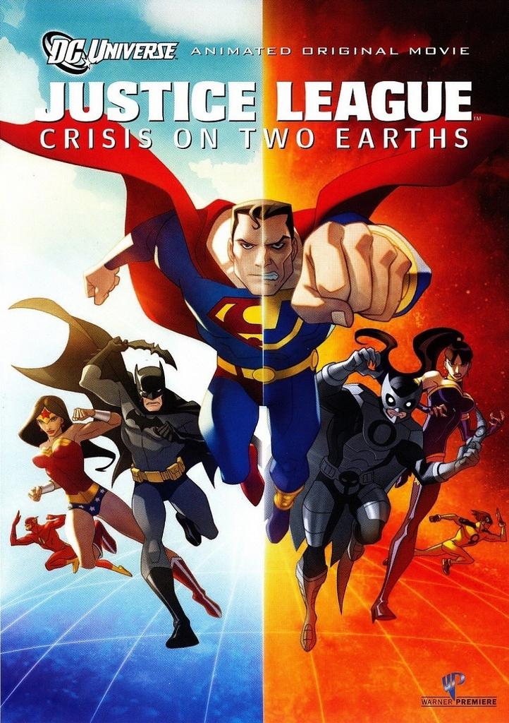 affiche du film La ligue des Justiciers : conflit sur les deux Terres