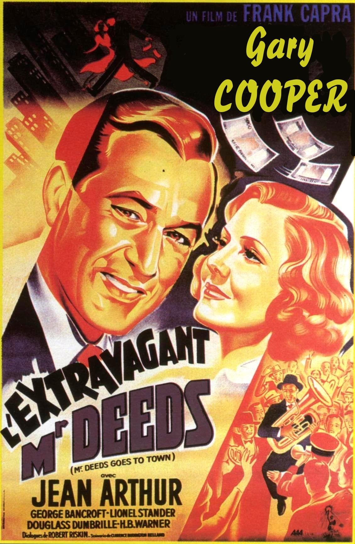 affiche du film L'extravagant Mr Deeds