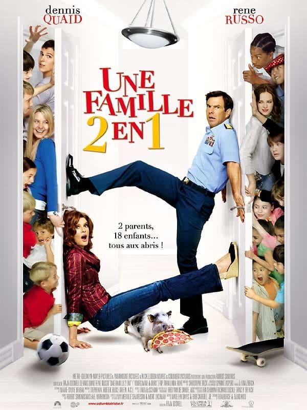 affiche du film Une famille 2 en 1