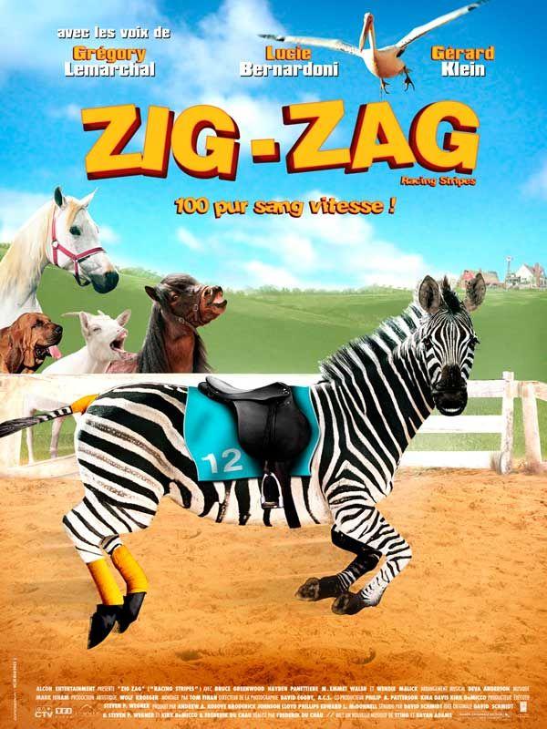 affiche du film Zig Zag, l'étalon zébré
