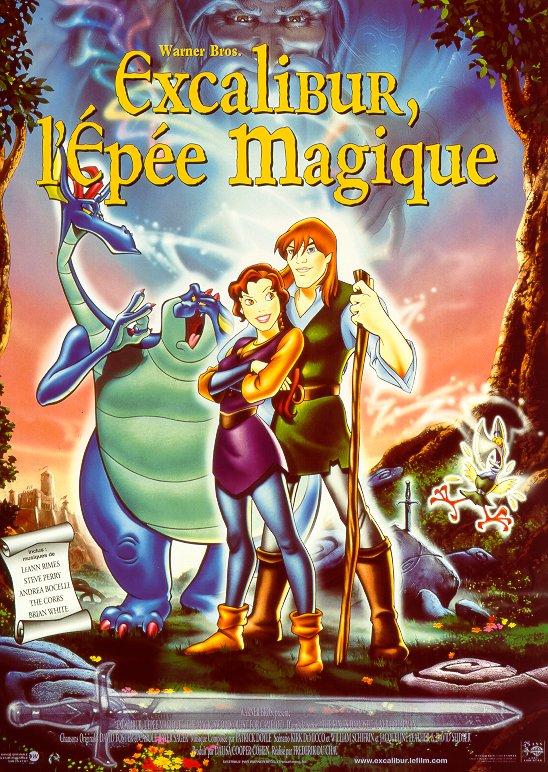affiche du film Excalibur, l'épée magique