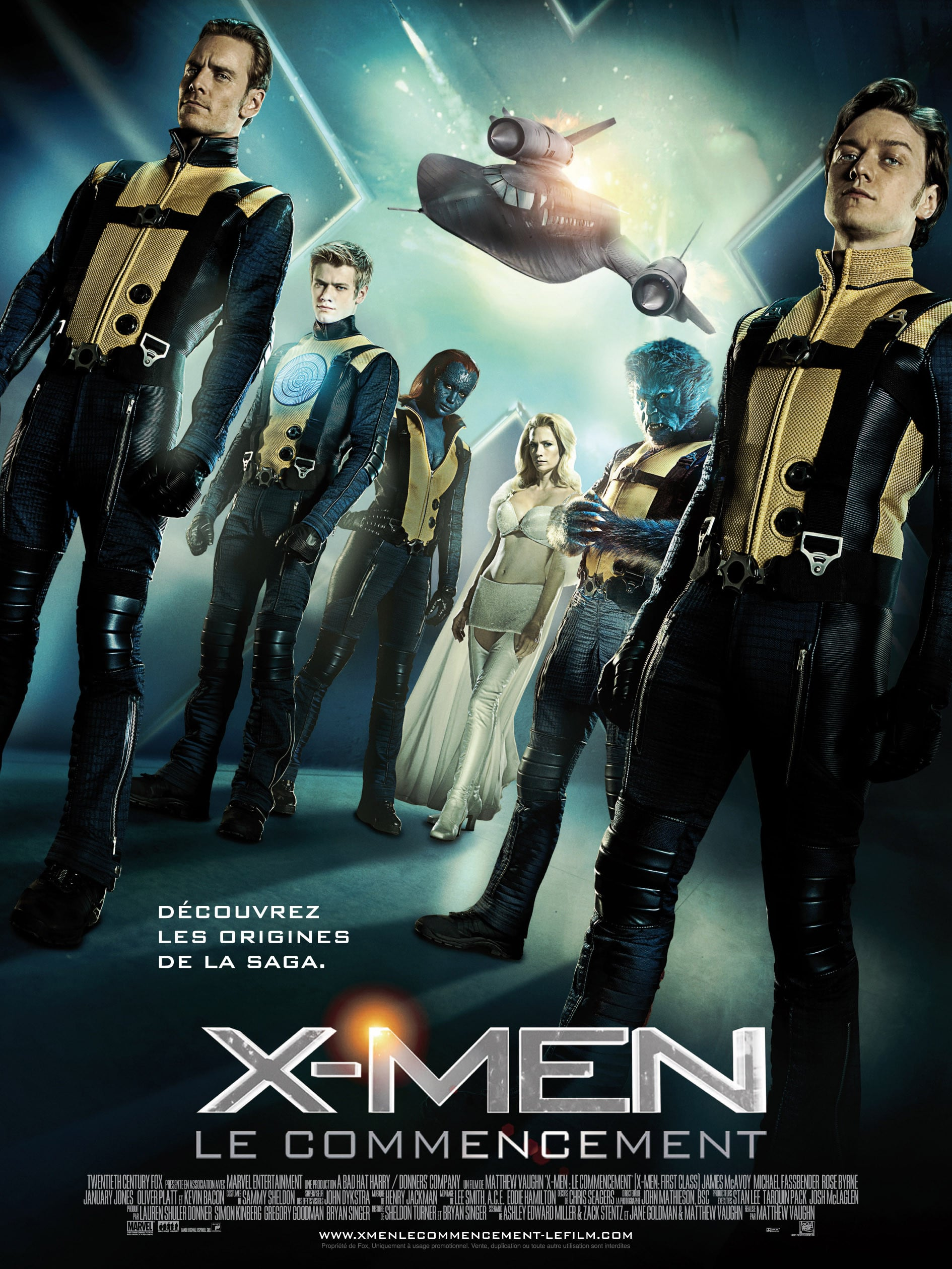 affiche du film X-Men: Le commencement
