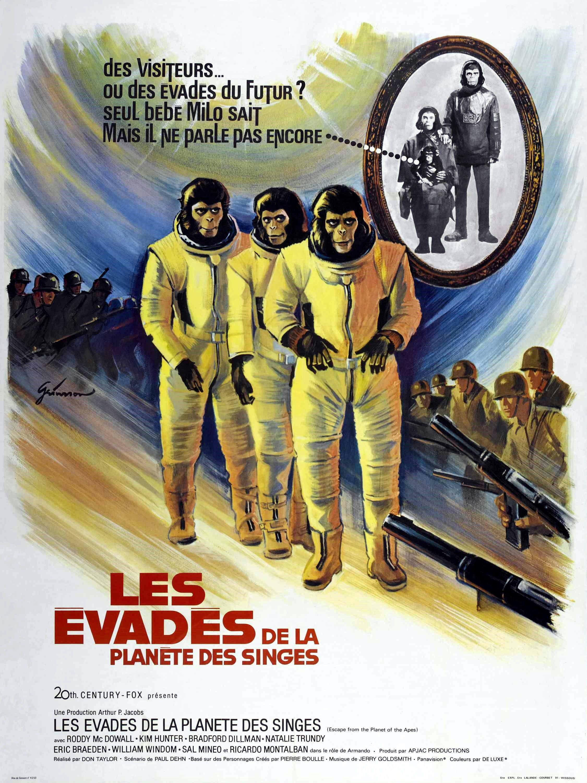 affiche du film Les évadés de la planète des singes