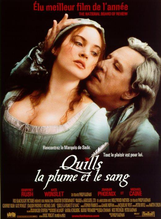 affiche du film Quills, la plume et le sang