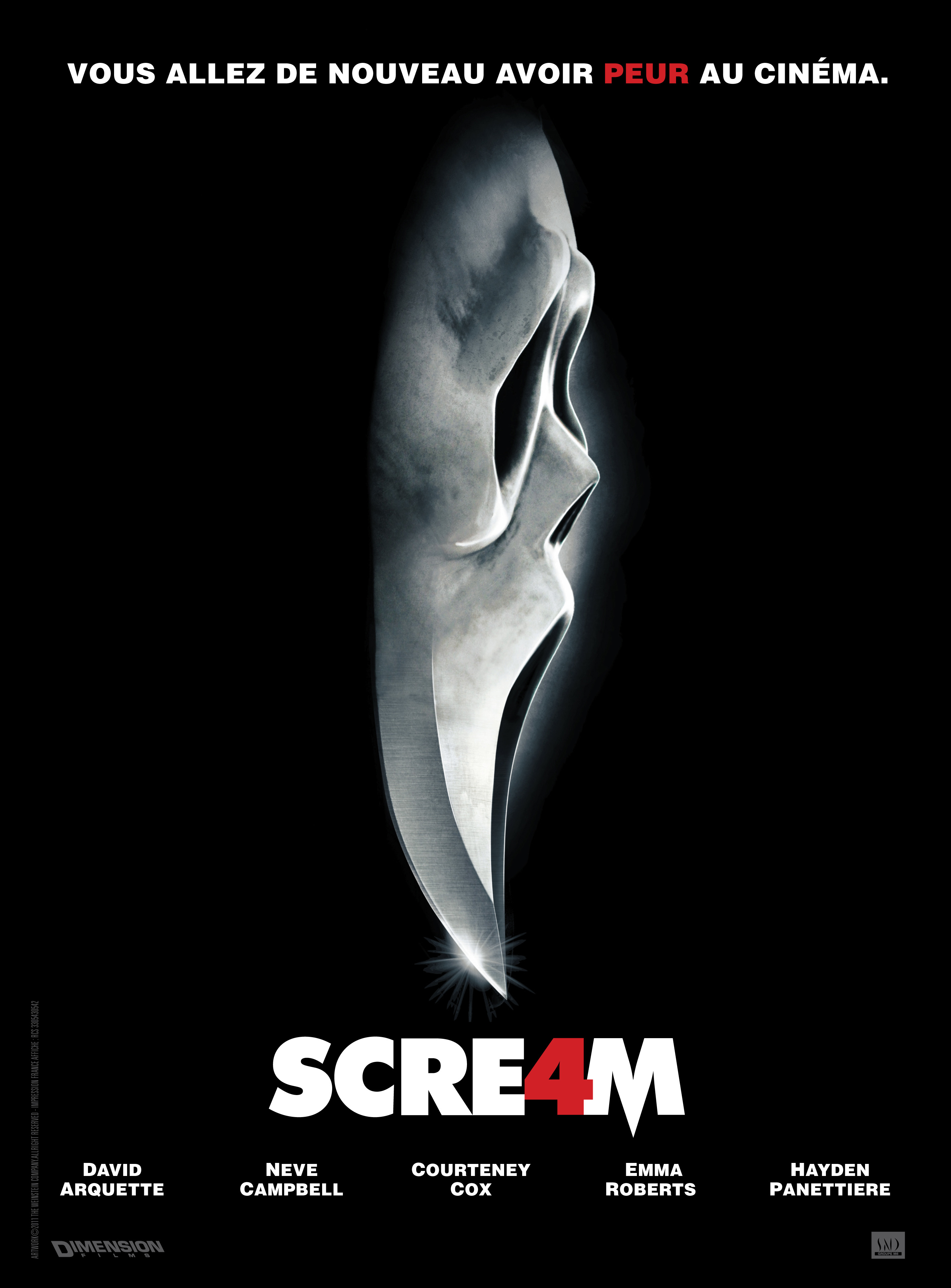 affiche du film Scream 4