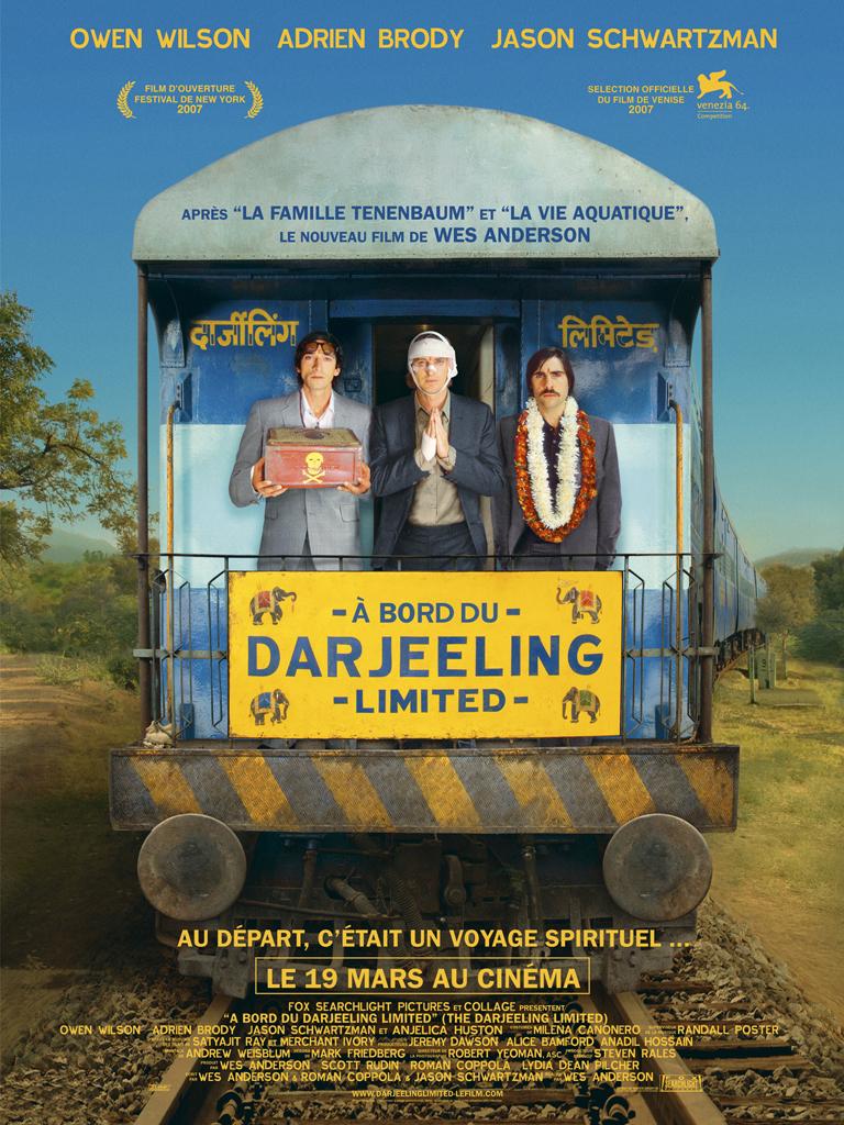 affiche du film À bord du Darjeeling Limited