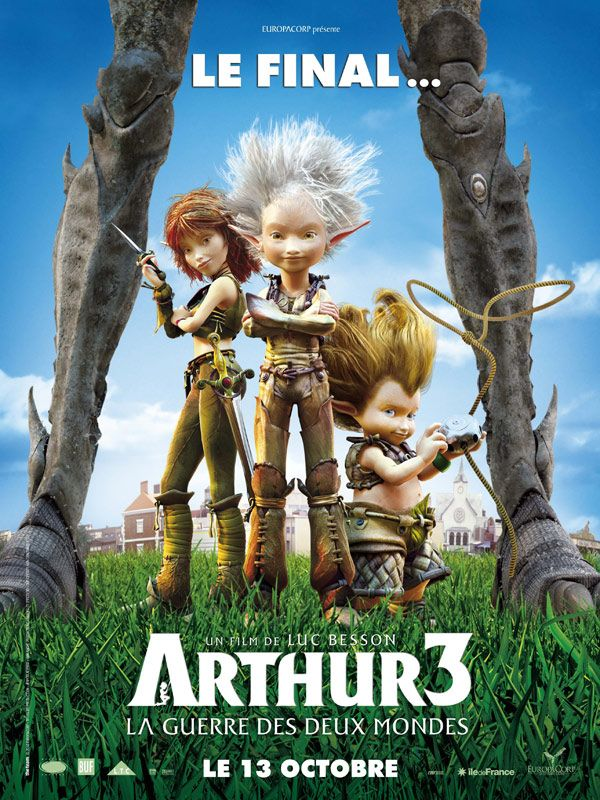 affiche du film Arthur 3 - La guerre des deux mondes
