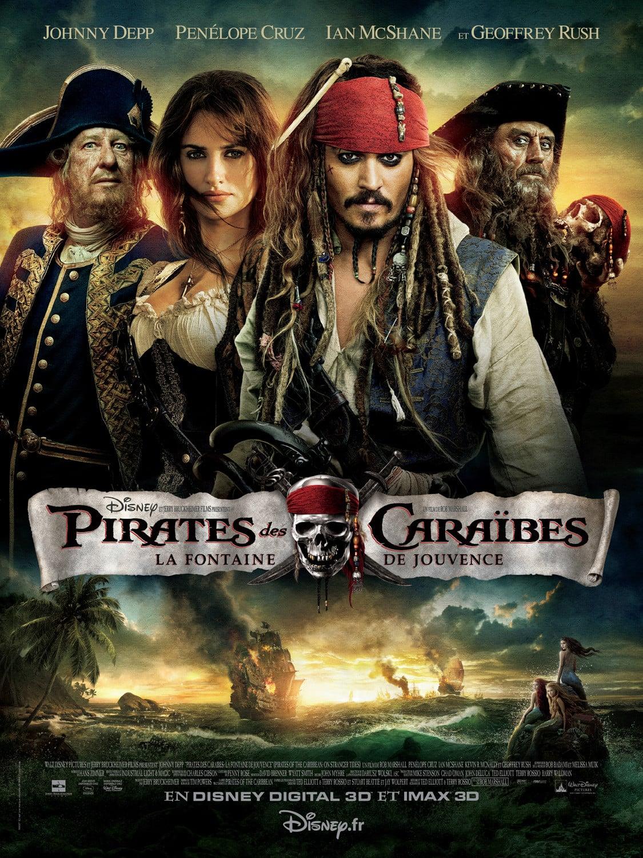 affiche du film Pirates des Caraïbes : La fontaine de jouvence