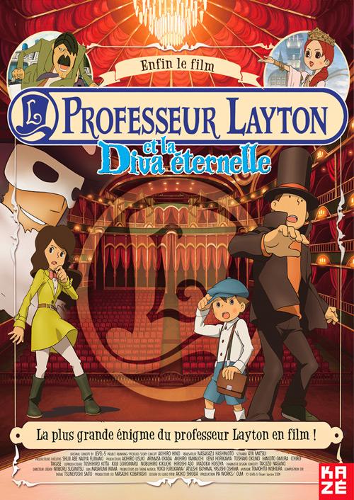 affiche du film Professeur Layton et la Diva éternelle