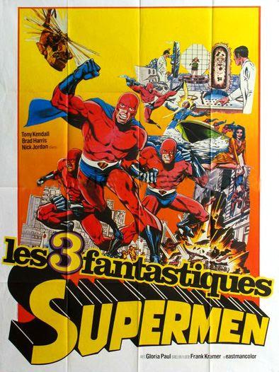affiche du film Les Trois Fantastiques Supermen