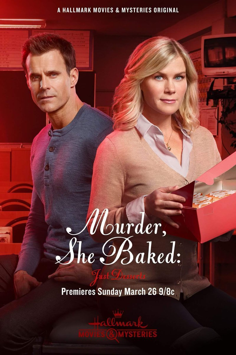 affiche du film Petits meurtres et pâtisserie : Un meurtre sous les projecteurs (TV)