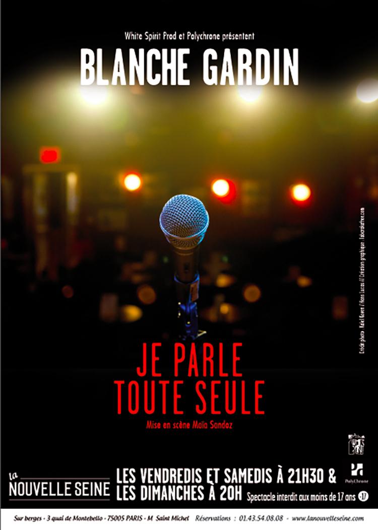 affiche du film Blanche Gardin : Je parle toute seule