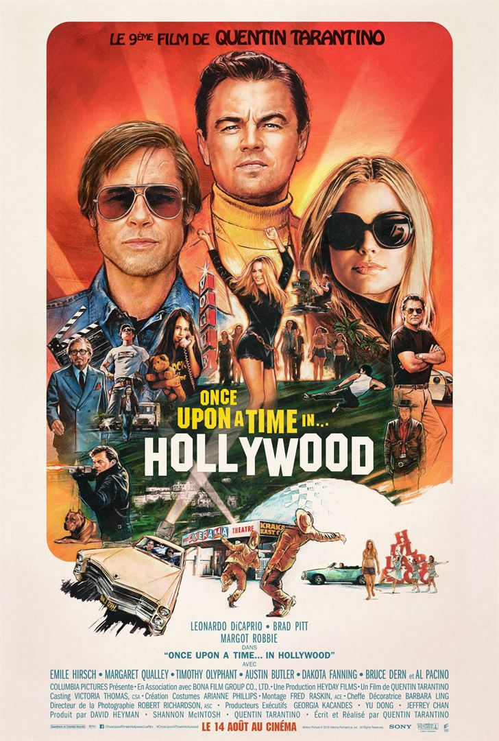 affiche du film Once Upon a Time... in Hollywood