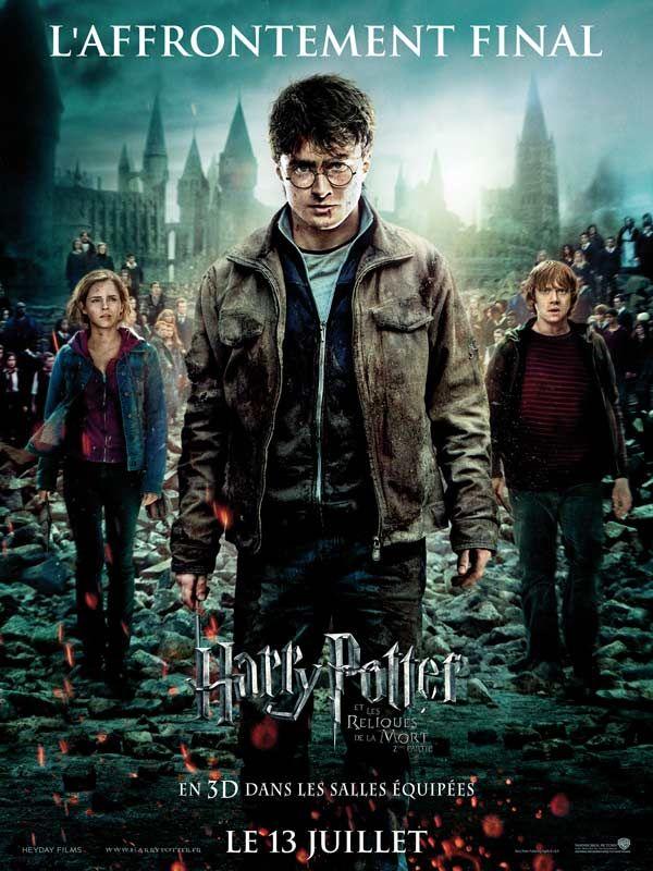 affiche du film Harry Potter et les reliques de la mort : 2ème partie