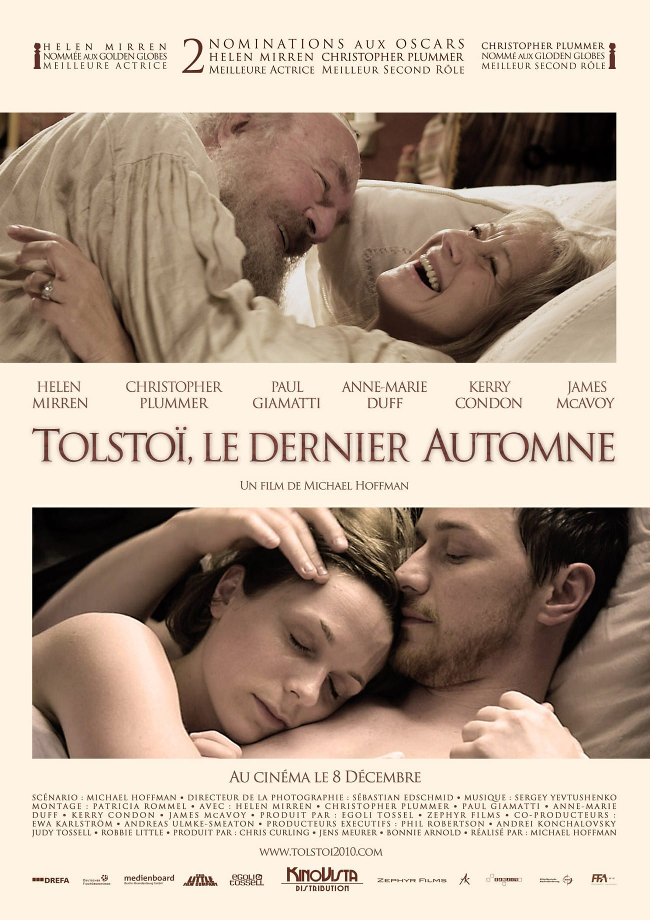 affiche du film Tolstoï, le dernier automne