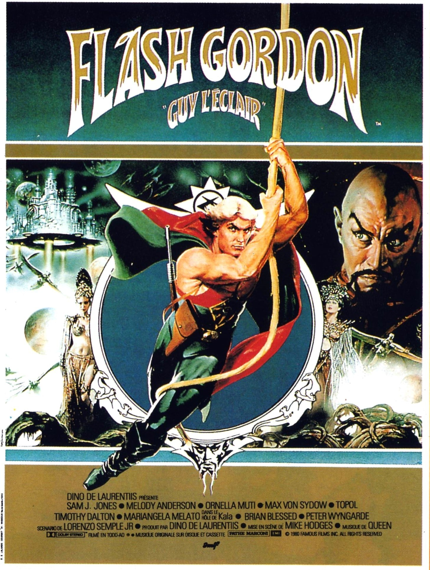 affiche du film Flash Gordon