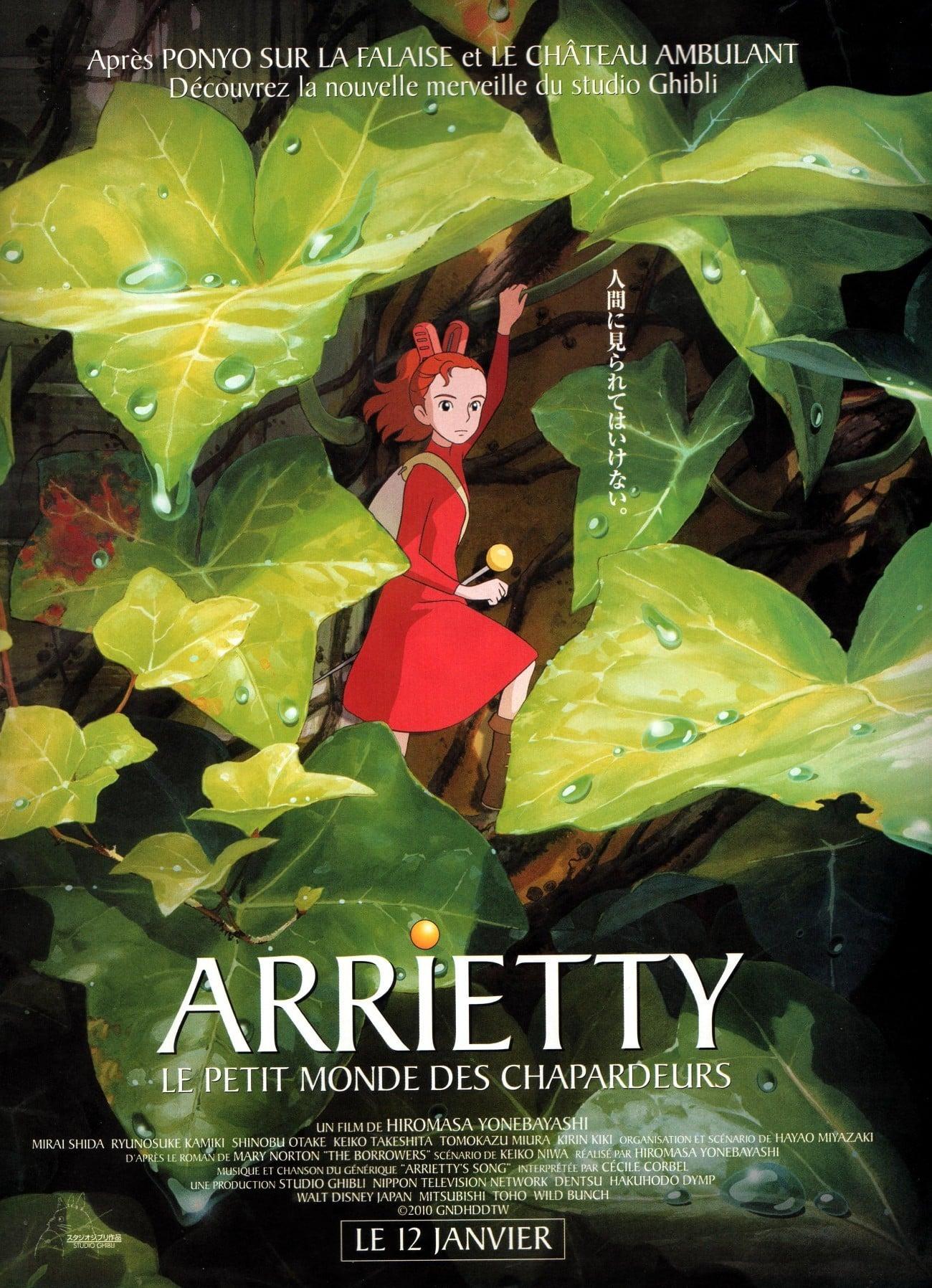 affiche du film Arrietty : Le petit monde des chapardeurs