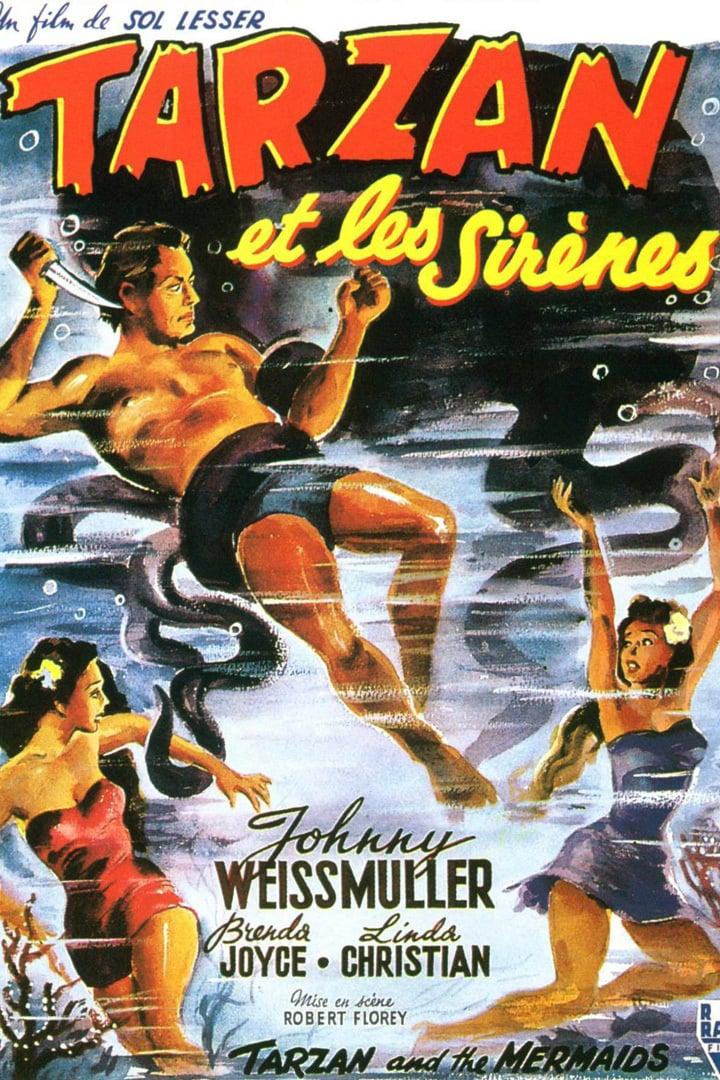 affiche du film Tarzan et les sirènes