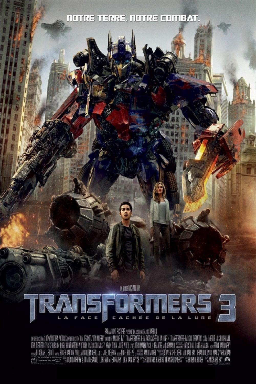 affiche du film Transformers 3 : La face cachée de la lune