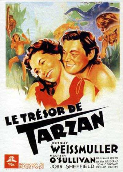 affiche du film Le trésor de Tarzan
