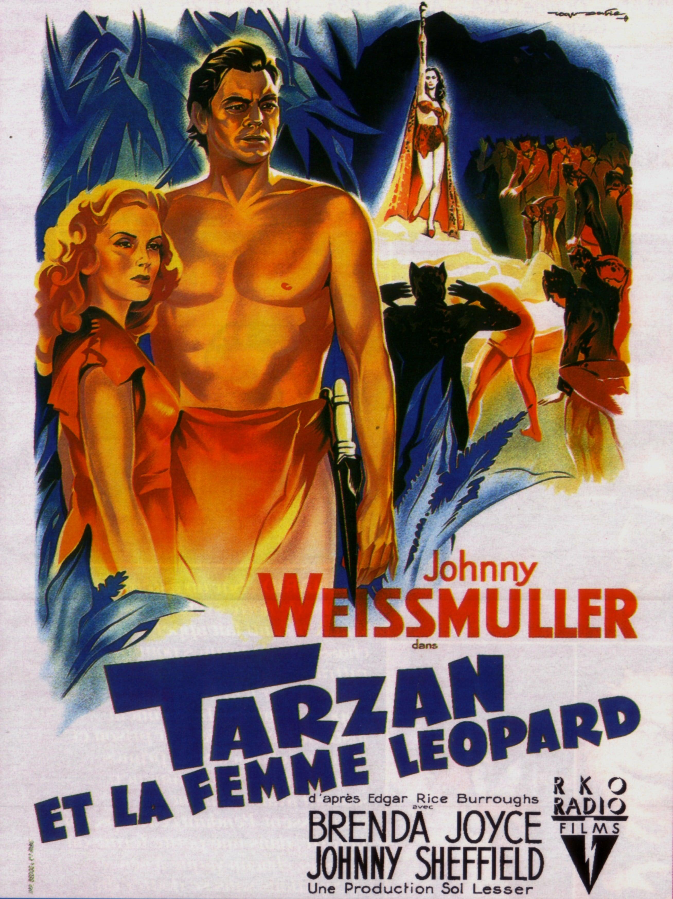 affiche du film Tarzan et la femme-léopard