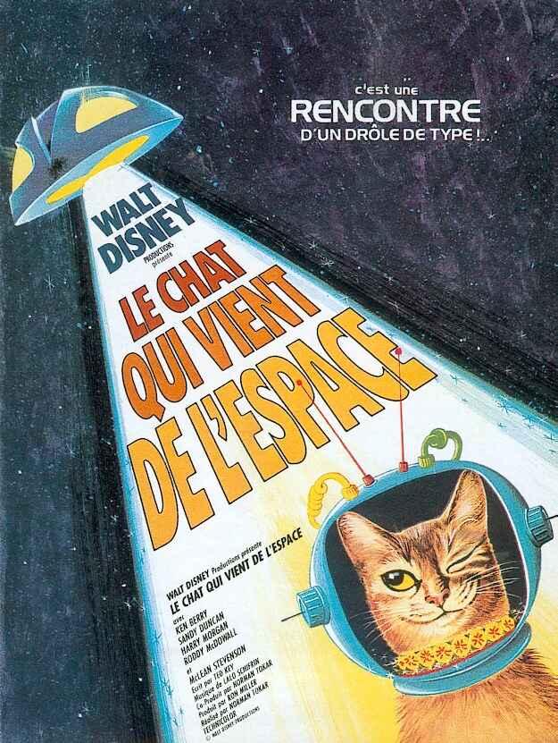 affiche du film Le chat qui vient de l'espace