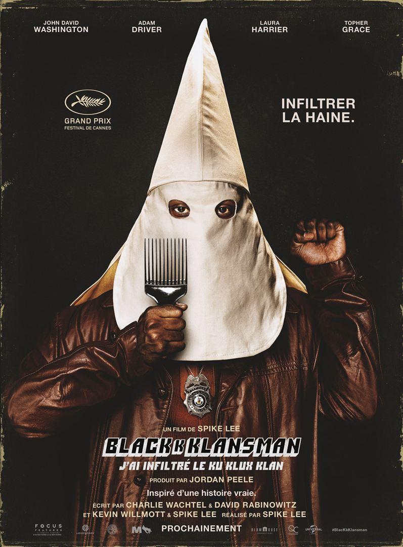 affiche du film BlacKkKlansman: J'ai infiltré le Ku Klux Klan