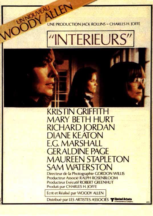 affiche du film Intérieurs