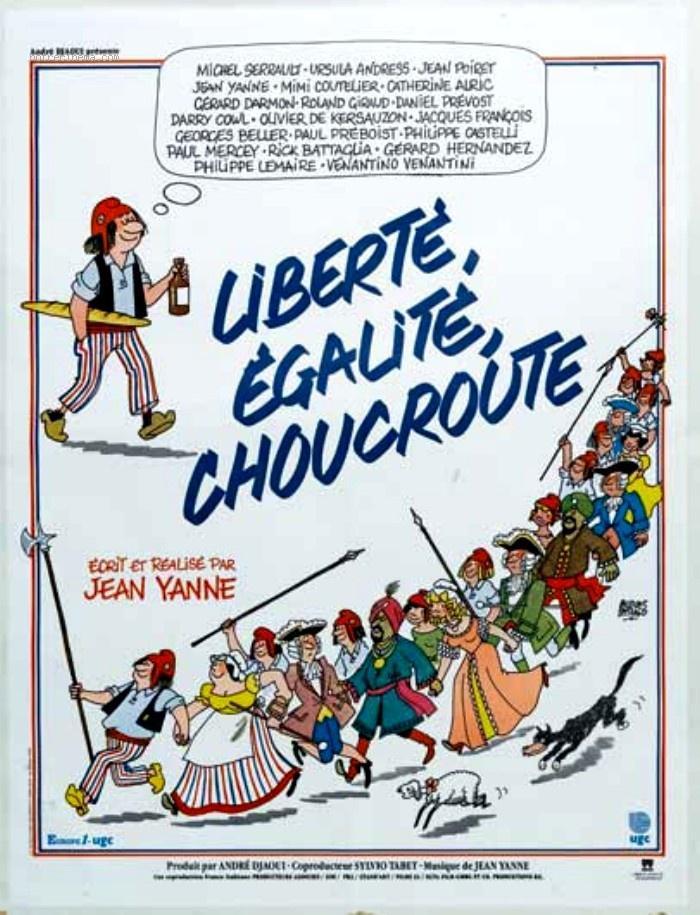 affiche du film Liberté, égalité, choucroute