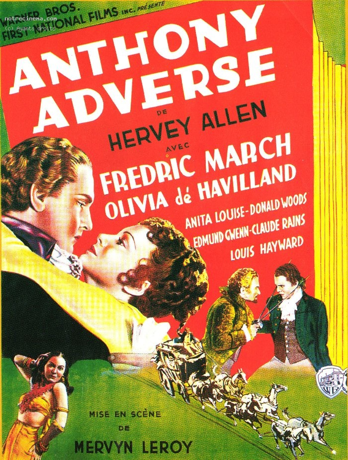 affiche du film Anthony Adverse, marchand d'esclaves