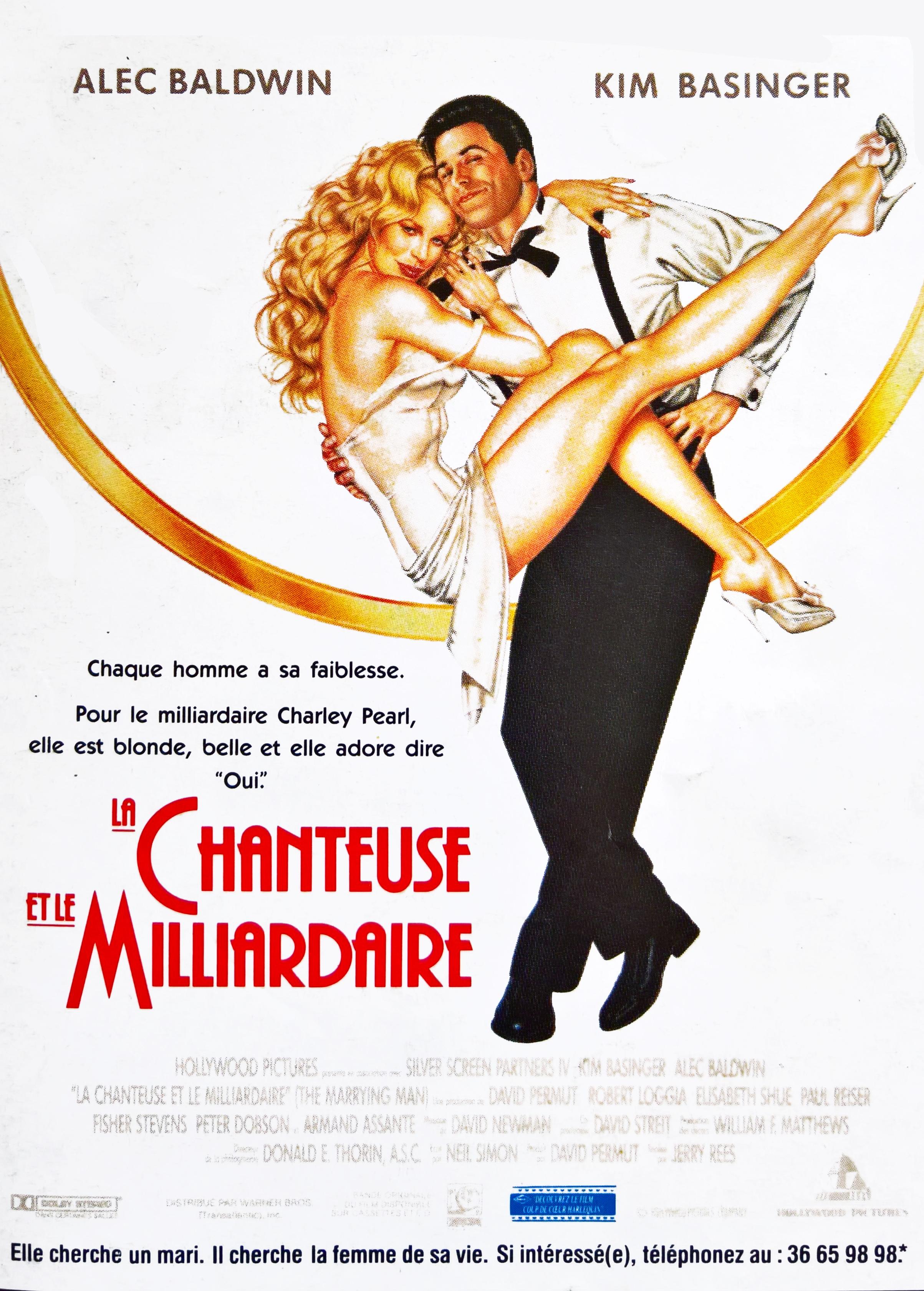 affiche du film La chanteuse et le milliardaire