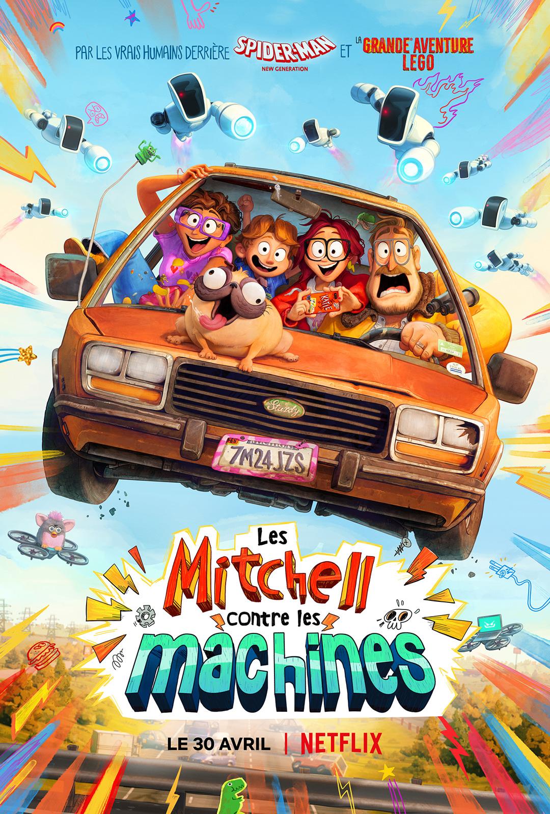 affiche du film Les Mitchell contre les machines