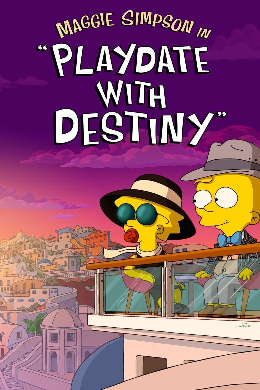 """affiche du film Maggie Simpson dans """"rendez vous avec le Destin"""""""