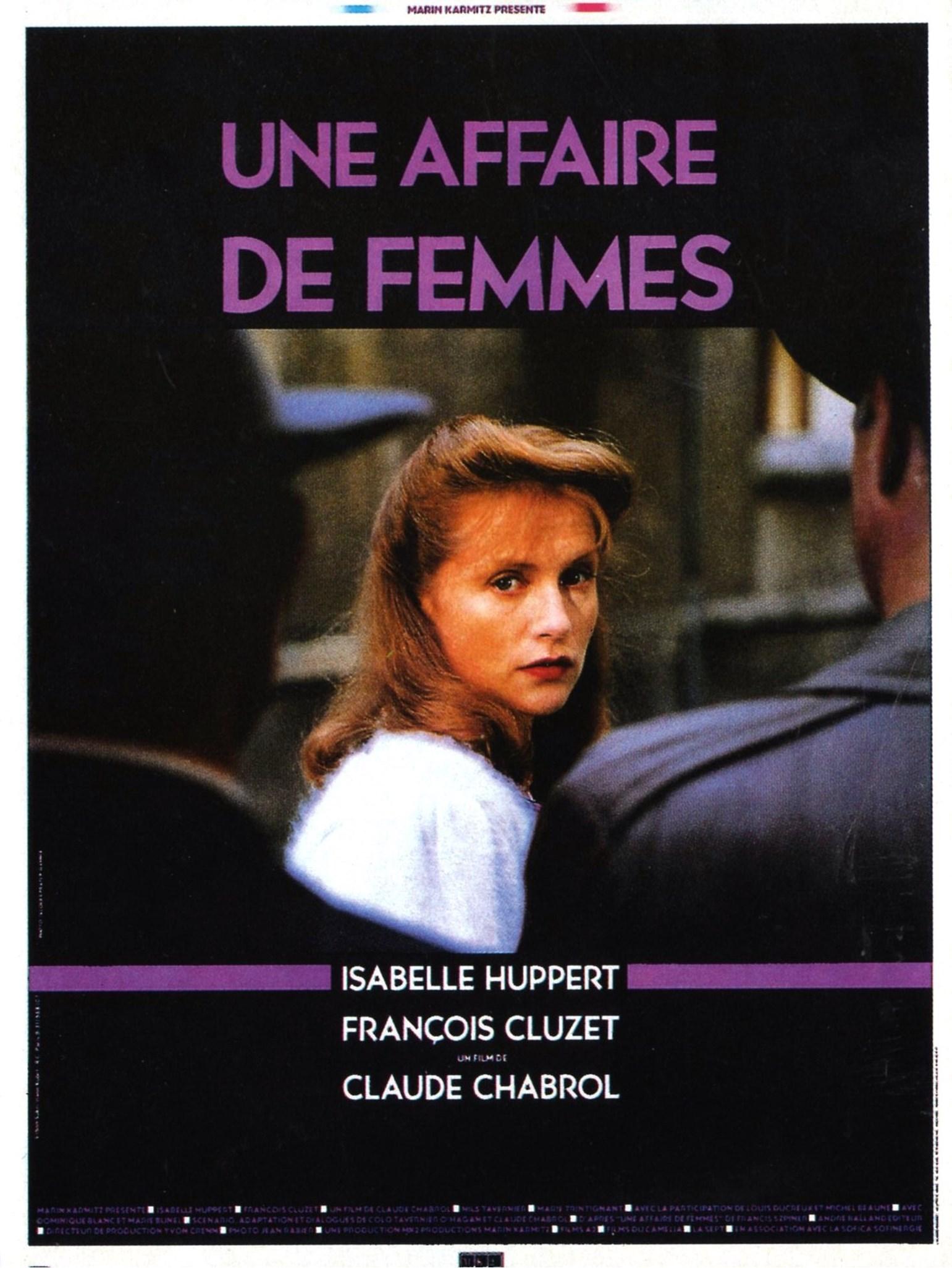 affiche du film Une affaire de femmes