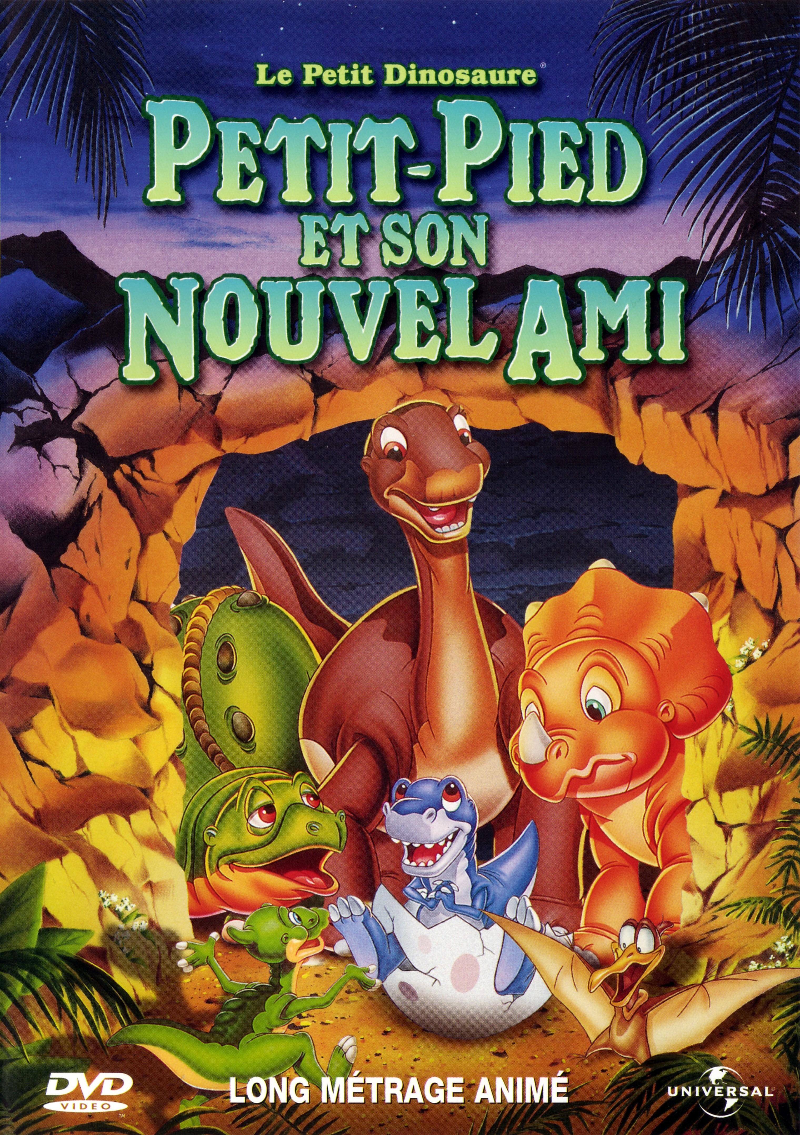 affiche du film Le Petit Dinosaure : Petit-Pied et son nouvel ami