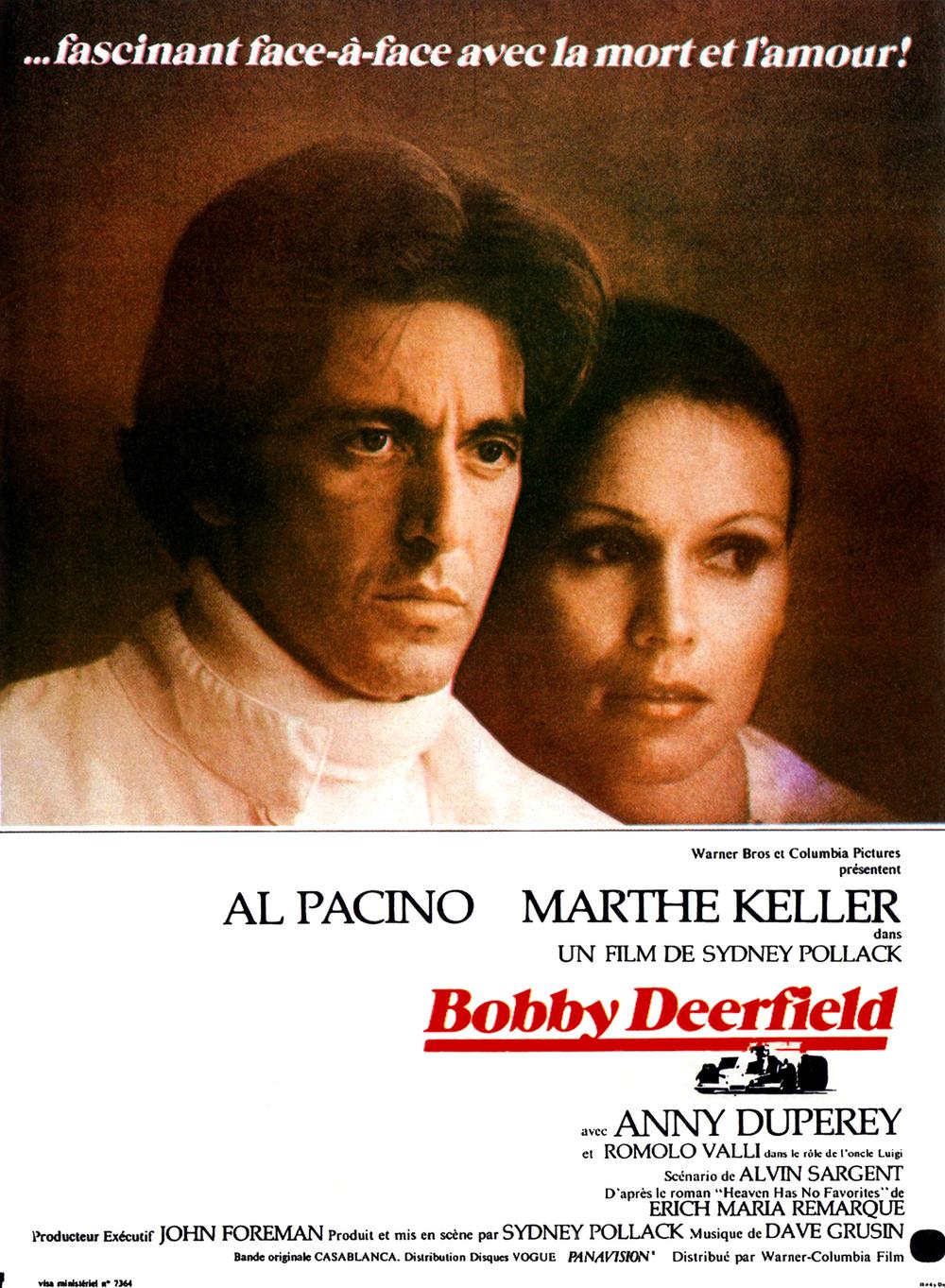 affiche du film Bobby Deerfield