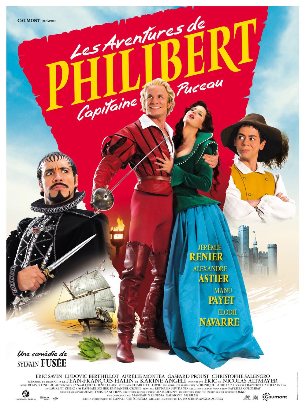 affiche du film Les aventures de Philibert, capitaine puceau