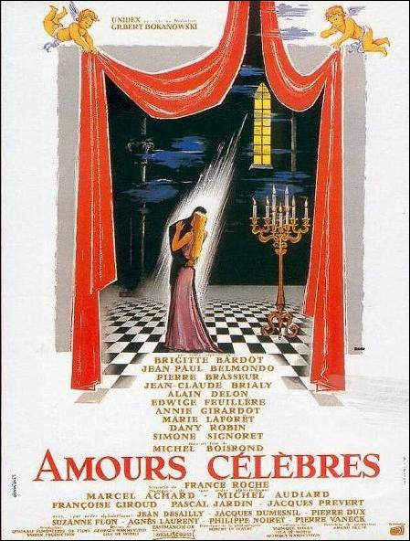 affiche du film Amours célébres