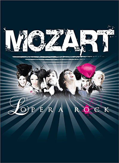 affiche du film Mozart, l'opéra rock