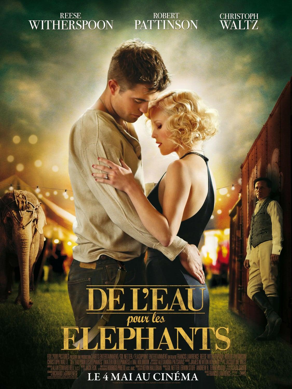 affiche du film De l'eau pour les éléphants
