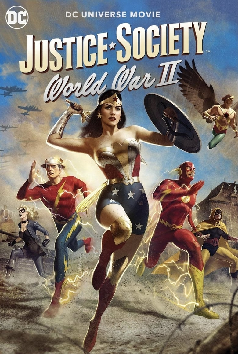affiche du film Justice Society: World War II