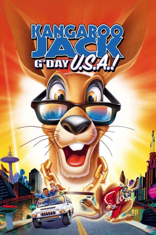 affiche du film Kangourou Jack : Bonjour l'Amérique