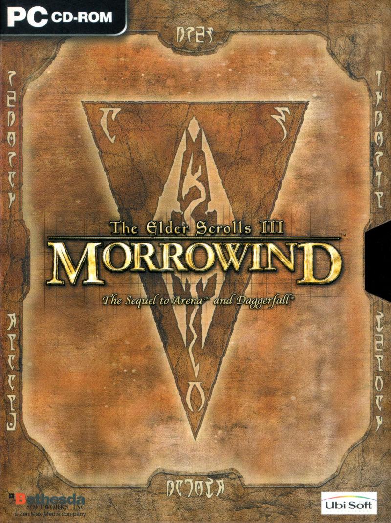 jaquette du jeu vidéo The Elder Scrolls III: Morrowind