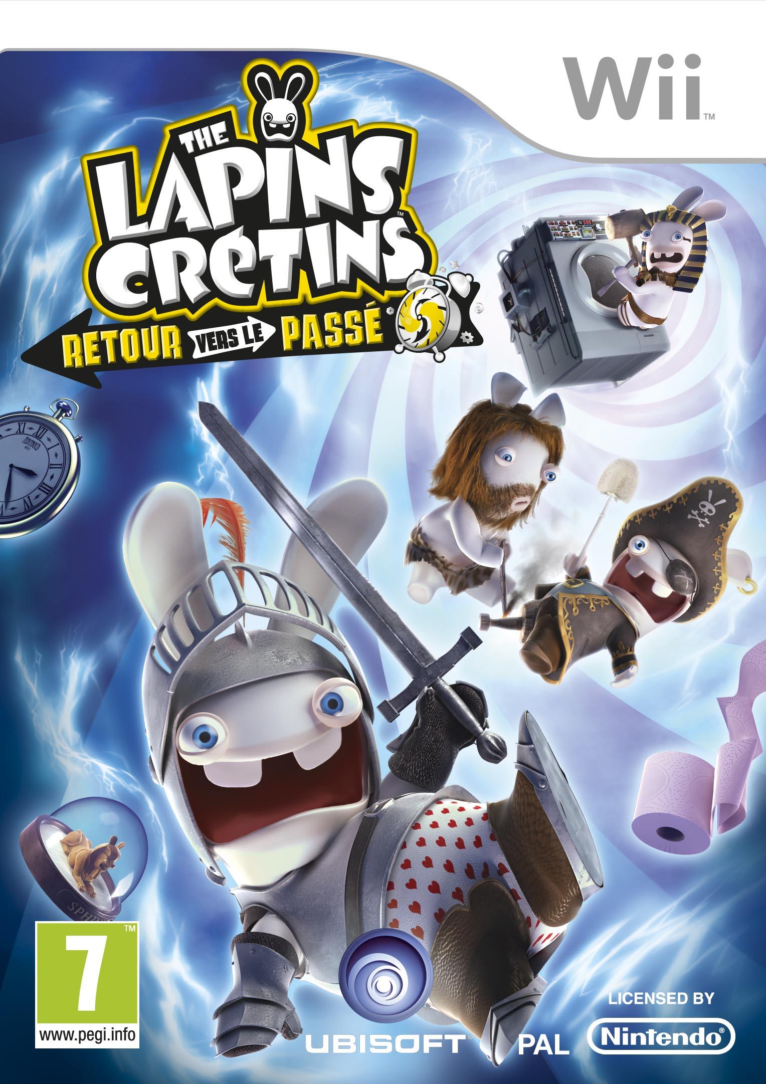 jaquette du jeu vidéo The Lapins Crétins : Retour vers le passé
